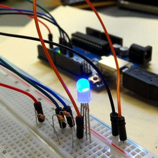 راه اندازی LED RGB با آردوینو