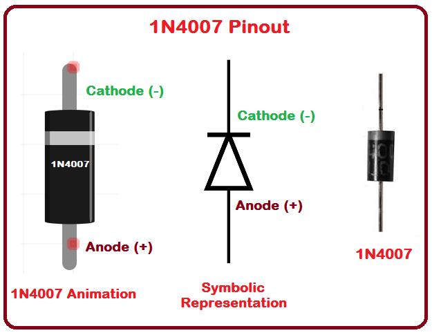 تصویر 1N4007-Pinout در آموزش راه انداز رله با ترانزیستور