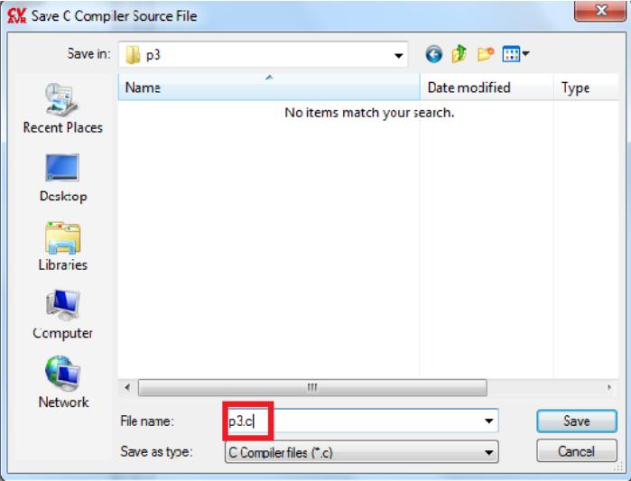 تصویر save.c کردن در Codevision AVR