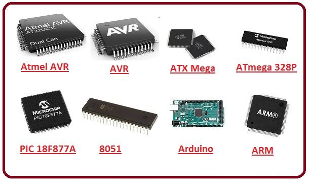 تصویر انواع میکرو کنترلر ها