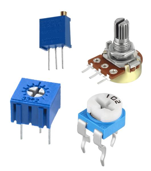 انواع پتانسیومتر در آموزش راه اندازی lcd کاراکتری با میکروکنترلر AVR