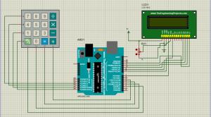 راه اندازی کی پد و نمایشگر 216 توسط آردوینو