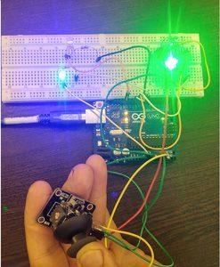 آموزش راه اندازی کنترل LED با جوی استیک توسط آردوینو+پروژه (2)