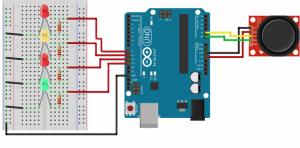 آموزش راه اندازی کنترل LED با جوی استیک توسط آردوینو+پروژه